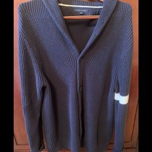 TOMMY HILFILGER XXL MENS NAVY CARDIGAN W Stripe